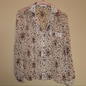 Anthropologie Tulle Sheer Blouse